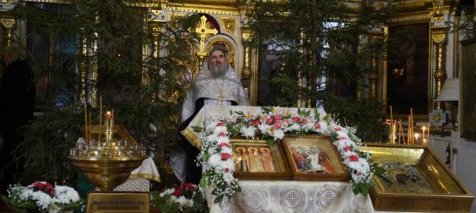 В Кафедральный собор Святой Троицы прибыли святыни Вышенского монастыря
