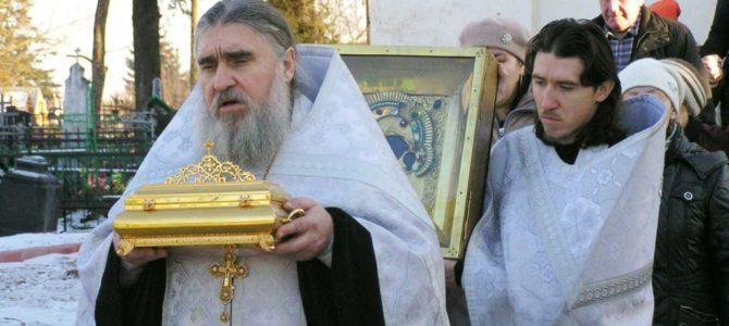 В Свято-Троицком кафедральном соборе г.Невеля состоялись торжественные проводы святынь Вышенского монастыря